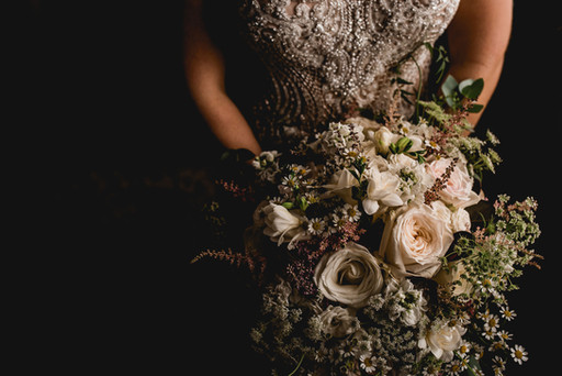 Textured Ivory & Pink Bridal Bouquet