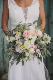 Eucalyptus & Blush Bridal Bouquet