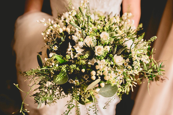 Textured Spring Ivory and Green Bridal B