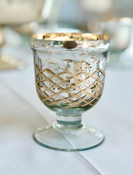 Gold Mercury Glass Footed Teallight