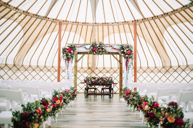 Wedding Ceremony in a Yurt