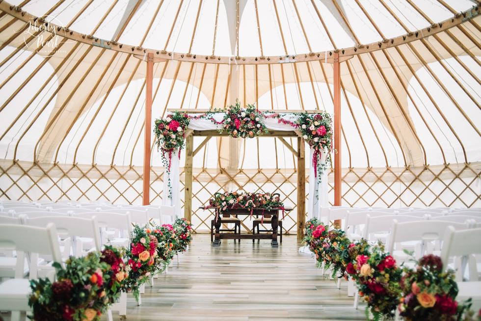 Wedding Ceremony in a Yurt