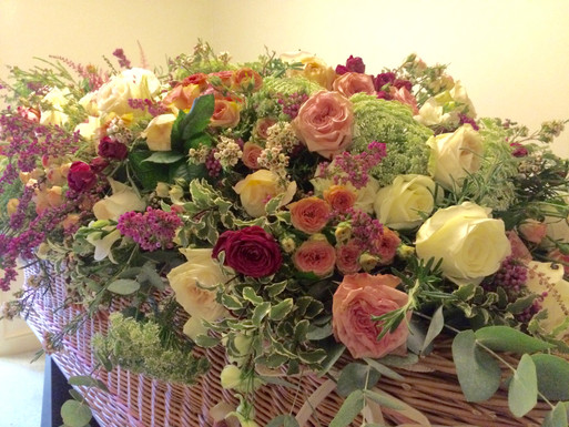 Coffin Blanket of scented roses
