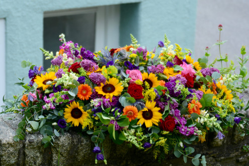 Bright & Colourful Coffin Spray