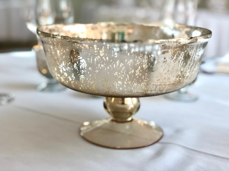 Gold Mercury Glass Footed Bowl