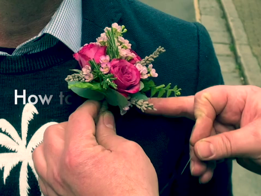 How to attach a buttonhole...