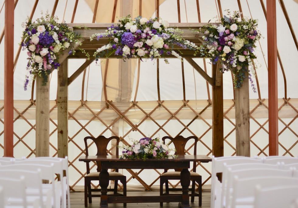 Gazebo Flowers in the Yurt