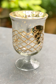 Gold Mercury Glass Footed Vase