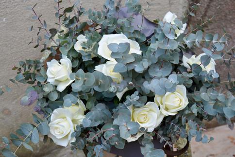Norma Jean & Eucalyptus Bouquet