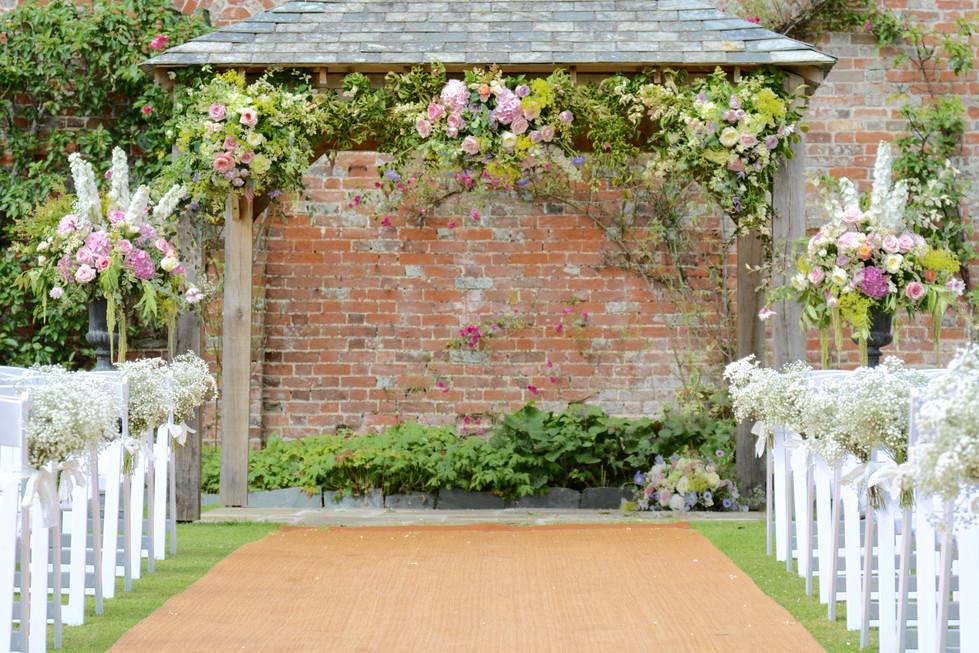 Outside Wedding Ceremony Flowers