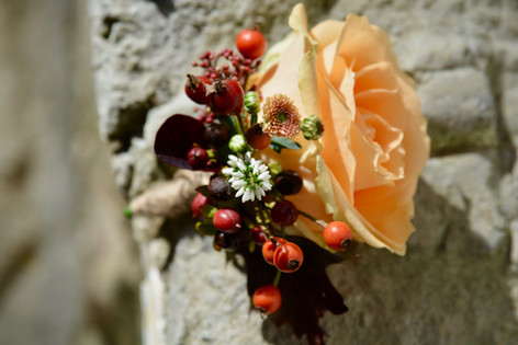 Autumnal Rose Buttonhole