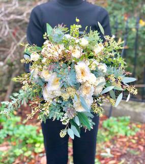 Green & Cream Bridal Bouquet