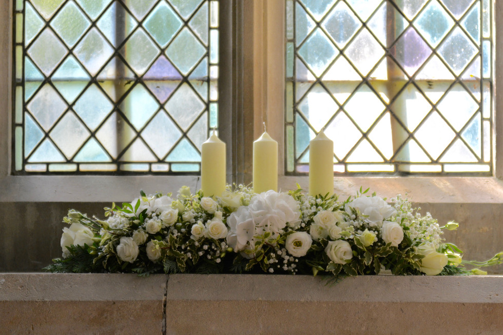 Long & Low Arrangement with Candles
