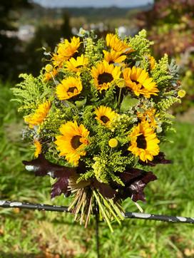 Sunflowers Tribute Sheaf