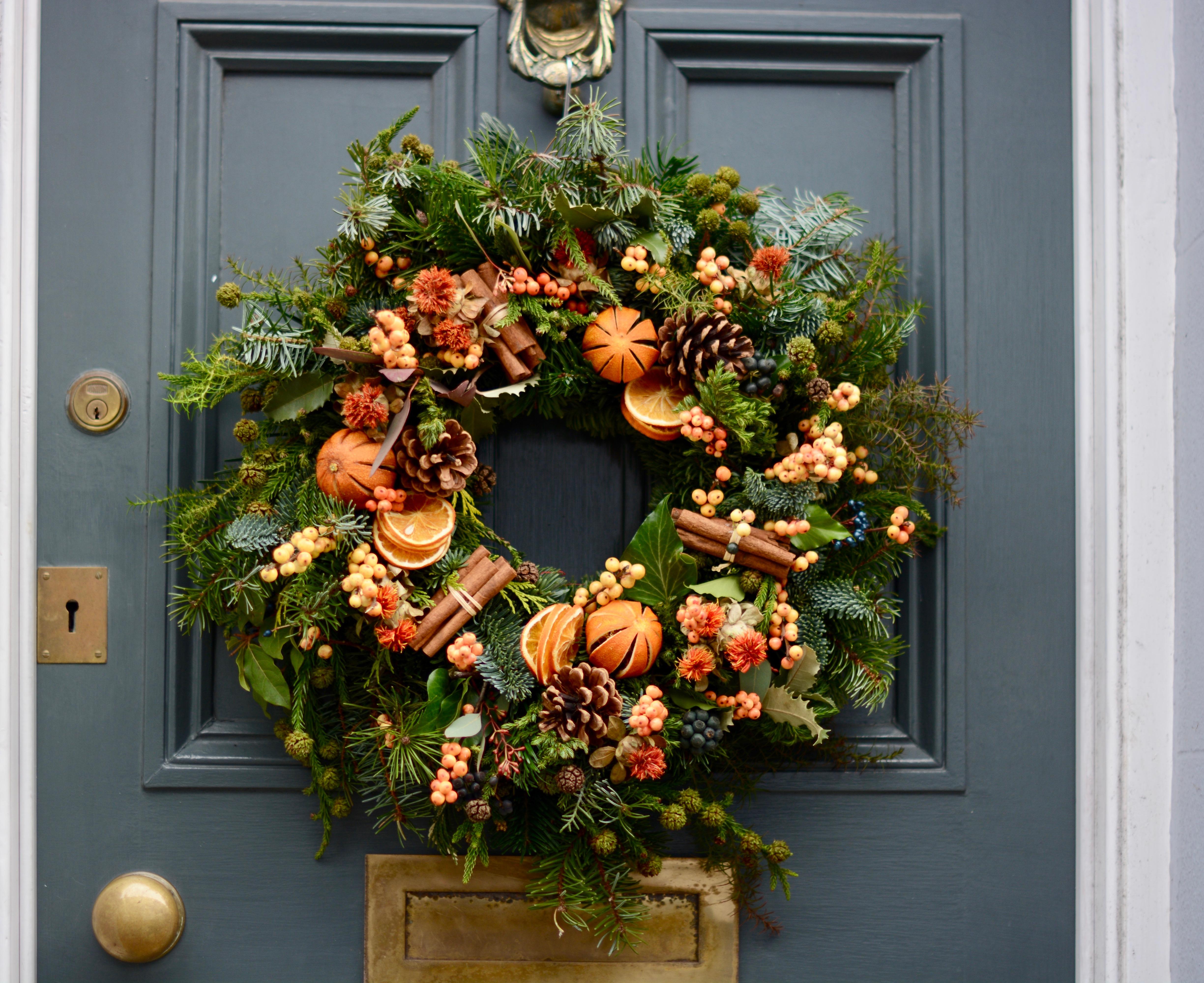 Fruit Punch Christmas Door Wreath