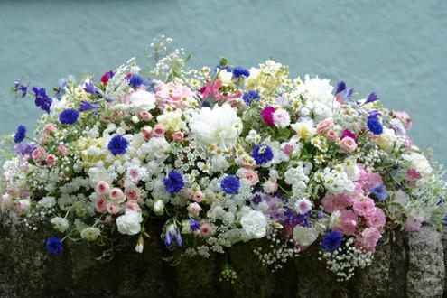 Summer Meadow Flowers Coffin Spray
