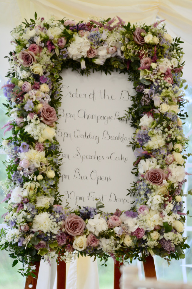 Floral Order of the Day Frame