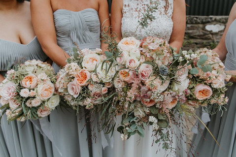 Autumn Peach Bouquets