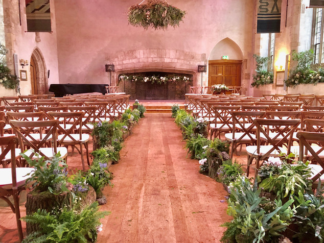 Wedding Ceremony in the Great Hall, Dartington