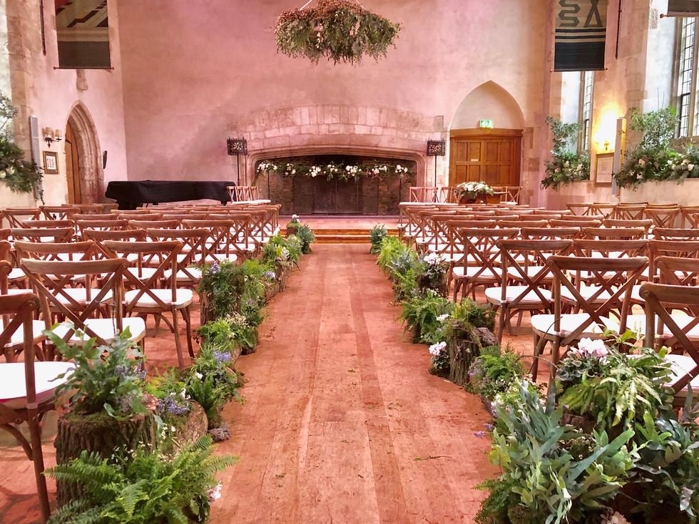 Wedding Ceremony in the Great Hall, Dartington