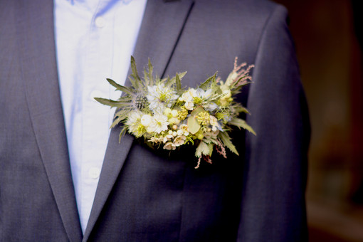 Breast Pocket Corsage or Pocket Square
