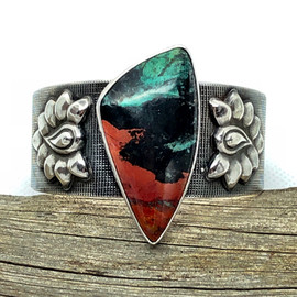 Art Deco Sunrise Cuff Bracelet