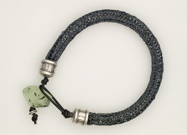 Viking Knit Bracelet w Prehnite