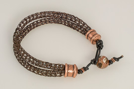 Double Strand Viking Knit Bracelet