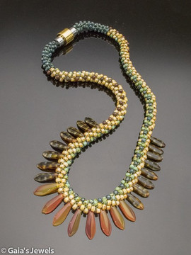Headdress Kumihimo Woven Necklace
