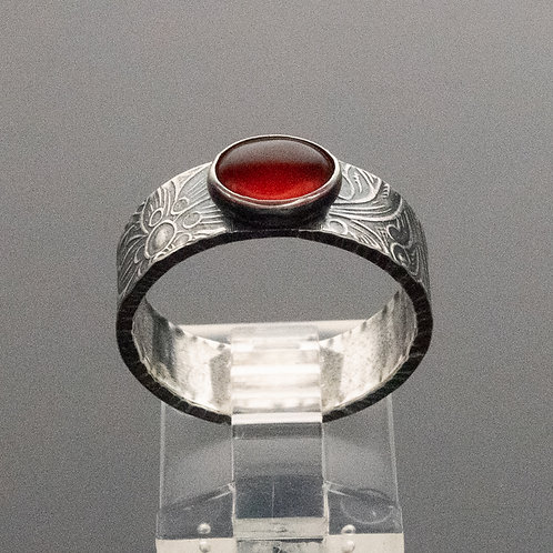 Classic Wide Stacker Ring in Sterling Silver w Gemstone Choices