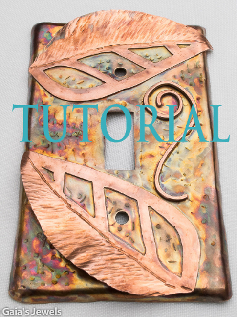 TUTORIAL for Leafy, 3D Wall Switch Plate in Copper, Brass and Bronze