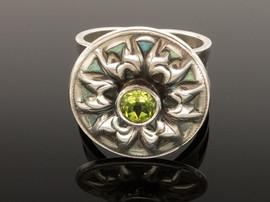 Peridot Impression Ring
