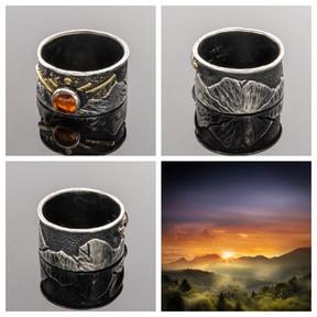 Mountain Sunrise Ring Band