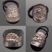 Copper Ponytail Holders