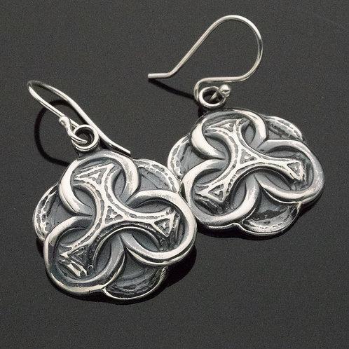 Celtic Knot Sterling Silver Dangle Earrings