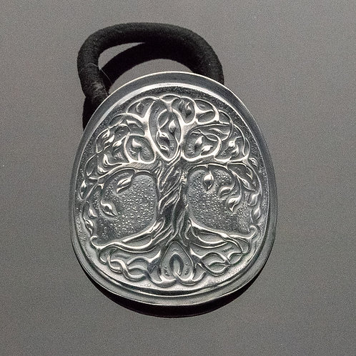 Tree of Life Ponytail Holder in Sterling Silver
