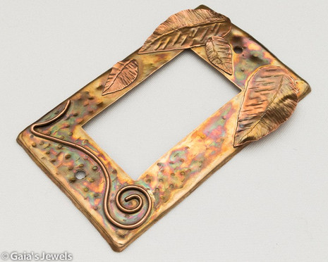 Leafy Bronze and Copper Paddle Style Switch Plate