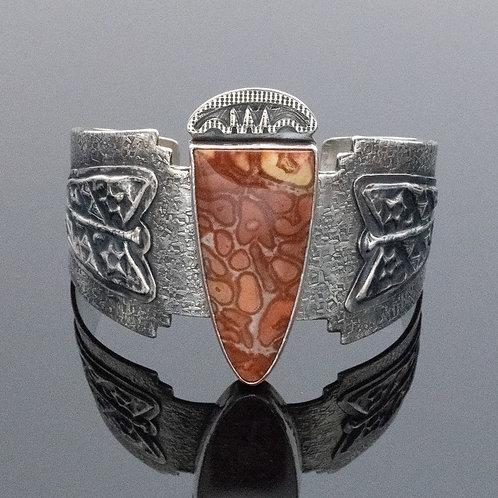 Arrowhead Sterling Silver Gemstone Cuff Bracelet