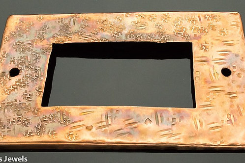 Textured Copper Switch Plate, Paddle Style