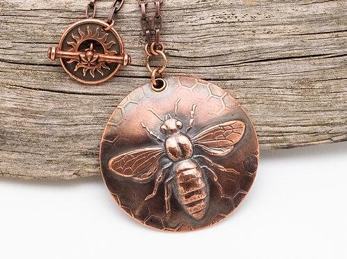 Queen Bee Copper Necklace