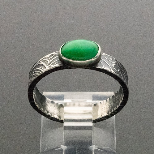 Classic Medium Wide Stacking Ring in Sterling Silver w Gemstone Choices