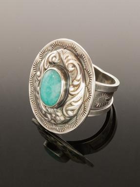 Concho Ring in Amazonite