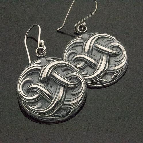 Sailor's Knot Sterling Silver Dangle Earrings