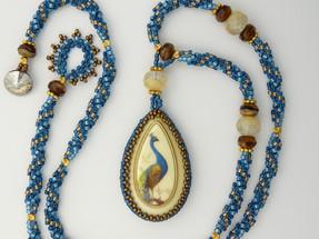 Royal Peacock Woven Necklace