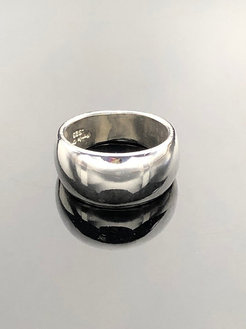 Domed Cigar Band Ring, Tapered, Sterling Silver