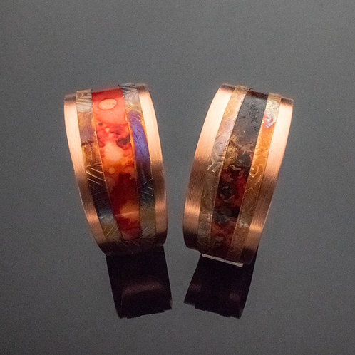 Layered Tapered Copper Cuff Bracelets