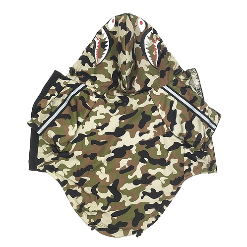 A Barking Pup Camouflage Windbreaker/Raincoat