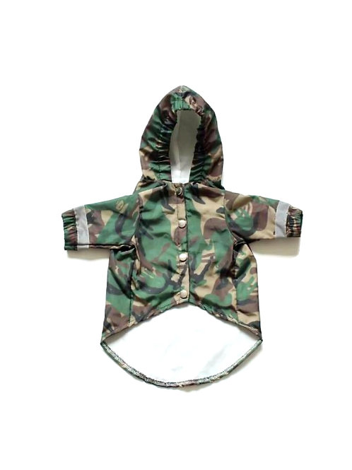Camouflage Dog Rain Jacket