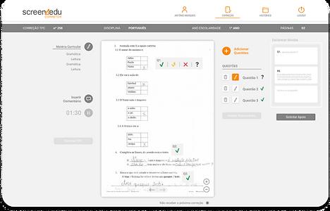 Após a configuração do perfil de correção, a inteligência do sistema torna simples e rápida a correção.