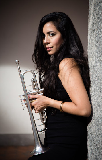 Trumpet player Maria Valencia by photographer Trine Thybo